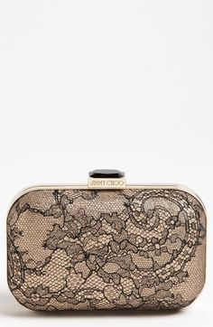 Jimmy Choo Cloud Lace Box Clutch available at #Nordstrom