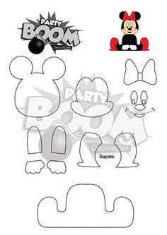 DISNEY'S MINNIE PATTERN - USE AS BASE FOR OTHER CHARACTERS