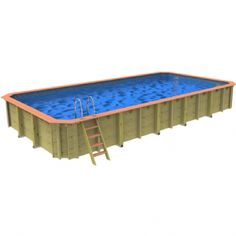 Wooden Swimming Pools Above Ground Swimming Pools, Above Ground Pool, In Ground Pools, Wooden Pool, Solar Cover, Pool Equipment, Wooden Ladder, Wood Construction, Wood Wall