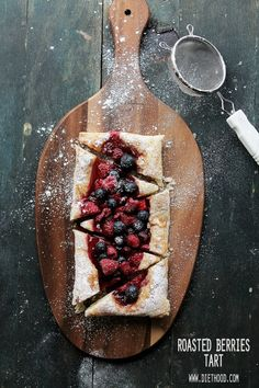 Roasted Berries Tart, food desserts,