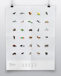 This fantastic poster is available for sale, but the site itself (viewed best through Google Chrome) is a wonderful fusion of art and information about endangered species like the red panda.  #redpandanetwork