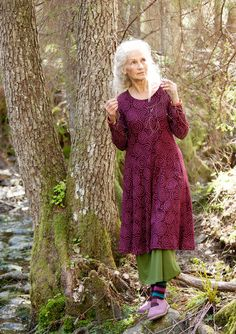 """Vilse"" dress in cotton/modal – Lost in the ancient forest – GUDRUN SJÖDÉN – Webshop, mail order and boutiques 