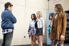 Pin for Later: The Killer Outfits on Pretty Little Liars Will Haunt You All Week Long Season 6 So many prints! And is that a shirt styled as a skirt on Emily?