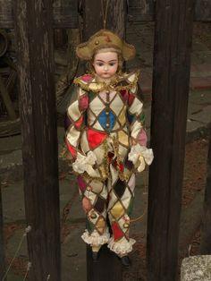 ~~~ Rare Bisque Harlequin in Original Costume ~~~