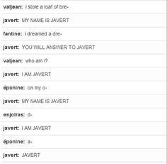 When in doubt, it's probably Javert