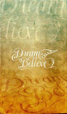 """Dream  Believe""  Proyecto de diseño tipográfico para Tattoo By, yesidpizo Popayán, Colombia, 2012"