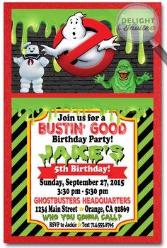 Ghostbusters Birthday Invitations