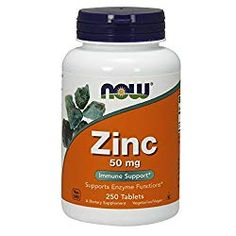 NOW Supplements, Zinc (Zinc Gluconate) 50 mg, Supports Enzyme Functions*, Immune Support*, 250 Tablets Zinc Supplements, Supplements For Anxiety, Best Zinc Supplement, Zinc Capsules, Chewable Vitamins