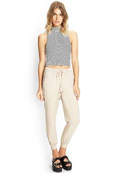 Slouchy Zip-Cuff Trousers | FOREVER21 - 2000068554 - Great for long flights travel :)