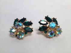 Vintage 1950's Trifari Rhinestone Clip-On Earrings