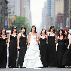 Cheap Simple Empire Waist  Grecian Black Chiffon Long A-line Bridesmaid Dresses,PB1006