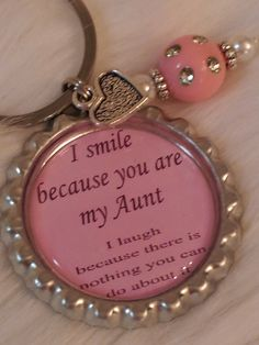 This May Just Be My Favorite Aunt Item So Far The Humor Is Perfectly Keychain Funny Quote Gift