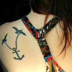 Anchor Bird Tattoo