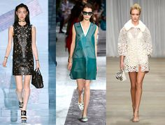 Spring Summer 2015 Trends From Milan Fashion Week | Grazia Fashion 6. Holey Spirit  Punching, caging, graphic or baroque... There are plenty of little somethings on the catwalk for summer that are full of holes, allowing you to stay cool - in every sense of the word.  From left: Versace, Tod's, Ermano Scervino