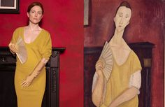 Julianne Moore is… Modigliani's muse, a Klimt damsel, and a tousled temptress by Egon Schiele.