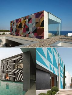 Facades on buildings and houses get interesting with the introduction of outdoor wallpaper