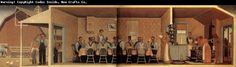 The Thresher-s supper Grant Wood China Wholesale Oil Painting Wholesale Picture Frame