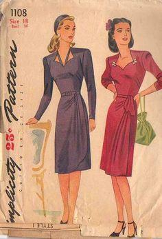 Simplicity 1108 vintage dress