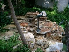 Beautiful #stone water #fountain by DH Landscape Design