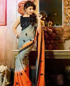Buy Exquisite Orange Casual Saree online at  https://www.a1designerwear.com/exquisite-orange-casual-sarees-6  Price: $21.18 USD