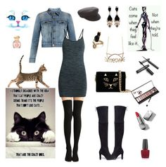 """""""Cats Come When They Want......."""" by rboowybe ❤ liked on Polyvore featuring Yves Saint Laurent, Pepper & Mayne, Stuart Weitzman, Étoile Isabel Marant, Charlotte Olympia, Givenchy, Neiman Marcus, Burberry, OPI and Tory Burch"""
