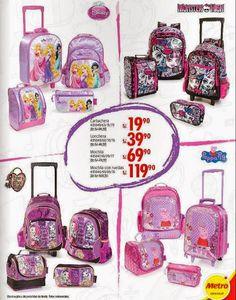 Mochilas infantiles de niñas Metro Febrero 2015