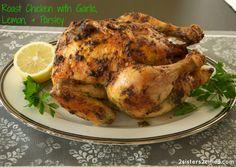 Roast Chicken with Garlic, Lemon, and Parsley
