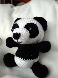 Cute crocheted Panda amigurumi bear gift for kids nursery