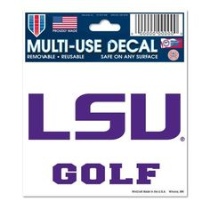 LSU Tigers Official Ncaa 3'x4' Golf MultiUse Car Decal by Wincraft 698834