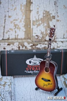 8af1f3f7a07 George Strait The Cowboy Rides Away VIP Tour Gift Mini Guitar By AXE HEAVEN