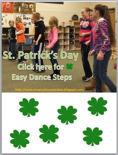 Click now to get easy dance steps for your class this St. Music Sub Plans, Music Lesson Plans, Kindergarten Lesson Plans, Music Lessons, Elementary Music, Elementary Teacher, Elementary Schools, Music Classroom, Classroom Ideas