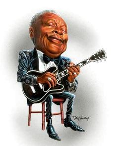 BB King Caricature  #art #Caricature #cool