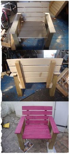 recycle armchair, just 2 pallets