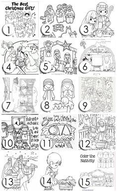 12 Ways To Keep CHRIST In Christmas Free Coloring PagesNativity