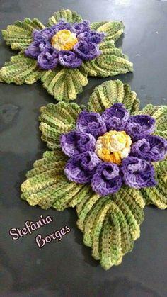 Crochet Square Patterns, Doily Patterns, Crochet Motif, Crochet Designs, Crochet Flowers, Crochet Stitches, Crochet Hooks, Cute Crochet, Irish Crochet