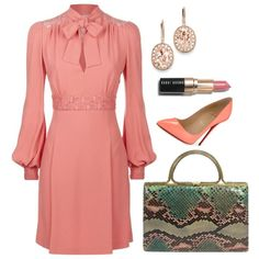 Elie Saab Dress by arta13 on Polyvore featuring Elie Saab, Christian Louboutin, Judith Leiber, Kevin Jewelers and Bobbi Brown Cosmetics