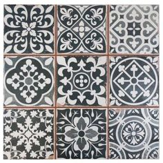 Merola Tile Faenza Nero 13 in. x 13 in. Ceramic Floor and Wall Tile (12.2 sq. ft. / case) - FPEFAEN - The Home Depot