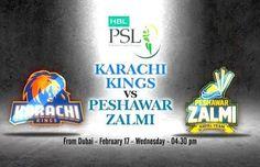 Karachi Kings vs Peshawar Zalmi Live streaming 17 Feb 2016 Karachi vs Peshawar cricket Live Streaming Score, HBL PSL live Ptv Sports Score HD PSL T20 2016