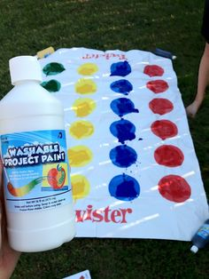 blindfolded messy twister?