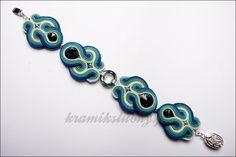 soutache bracelet with Swarovski Crystals