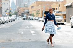love a ruffley moment. #ShalaMonroque in NYC.