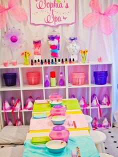 spa party idea for girls birthday