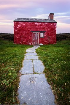 Little Red House at Parrog, Newport, Pembrokeshire, Wales #UK