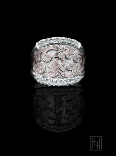 Now available at hyosilver.com!! Enjoy the combination of rose gold and sterling silver in the stunning Blush & Sterling Statement Ring! She'll love the the sparkle and rosy glow of this ring!  Sterling Silver and1/10th 10k Rose Gold Overlay with Cubic Zirconia.