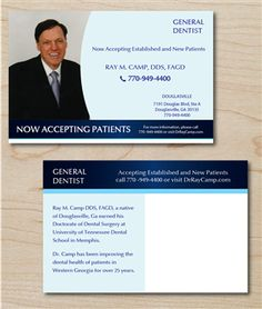 Postcard Design , Need postcard design for dental office. The doctor is returning to the office after a few months medical leave and he wants a postcard to be mailed t¡ Free Business Card Design, Postcard Design, Design Projects, Dental, Design Art, Illustration Art, United States, Medical, Fantasy