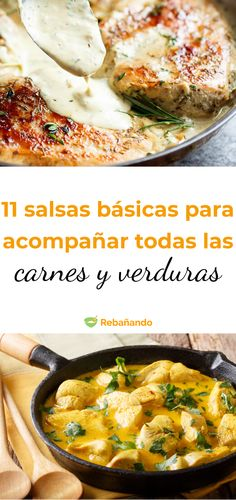 The 11 basic SAUCES to accompany ALL meats and vegetables Best Dinner Recipes, Great Recipes, Healthy Recipes, Houston Food, Yummy Food, Tasty, Salsa Recipe, Family Meals, Buffalo Chicken