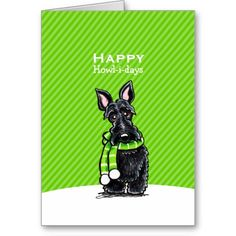 Black Scottie Scarf Christmas Green Custom Card http://www.zazzle.com/black_scottie_scarf_christmas_green_custom_card-137632845764231521?rf=238205274887202706