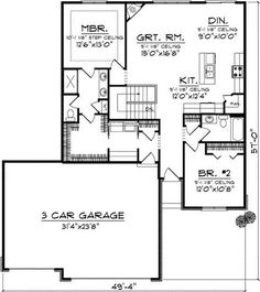One Level Home with Hip Roof - 89770AH | 1st Floor Master Suite, Butler Walk-in Pantry, CAD Available, Narrow Lot, PDF, Ranch, Southern,…