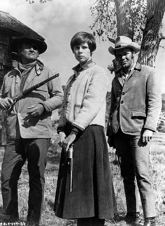 True Grit - another one of my favorite John Wayne movies!  Kim Darby proved herself a natural, as was Glenn Campbell!