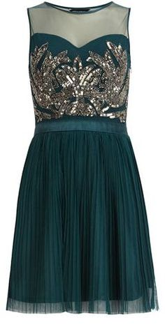 Gorgeous teal dress :: love this for new year's eve!